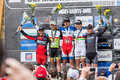 Uci world cup cross country mont ste anne b quebec canada august men elite podium on aug Stock Images