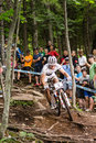 Uci world cup cross country mont ste anne b quebec canada august men elite rd place sui schurter nino on aug Royalty Free Stock Photos