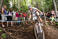Uci world cup cross country mont ste anne b quebec canada august men elite rd place sui schurter nino on aug Royalty Free Stock Photo