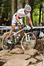 Uci world cup cross country mont ste anne b quebec canada august men elite rd place sui schurter nino on aug Royalty Free Stock Image