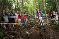 Uci world cup cross country mont ste anne b quebec canada august men elite st plcace fra absalon julien on aug Stock Image