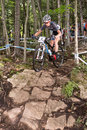 Uci world cup cross country mont ste anne b quebec canada august men elite th place aus mcconnell daniel on aug Royalty Free Stock Images