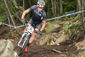 Uci world cup cross country mont ste anne b quebec canada august men elite th place aus mcconnell daniel on aug Stock Image