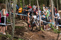 Uci world cup cross country mont ste anne b quebec canada august men elite th place aus mcconnell daniel on aug Stock Images