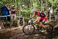 Uci world cup cross country mont ste anne b quebec canada august men elite th place sui naef ralph on aug Stock Photo