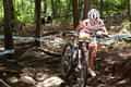 Uci world cup cross country mont ste anne b quebec canada august women elite nd place pol wloszczowska maja on aug Stock Photography