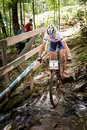 Uci world cup cross country mont ste anne b quebec canada august women elite rd place slo zakelj tanja on aug Royalty Free Stock Photos