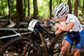 Uci world cup cross country mont ste anne b quebec canada august women elite rd place slo zakelj tanja on aug Stock Photography