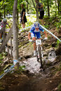 Uci world cup cross country mont ste anne b quebec canada august women elite st place cze nash katerina on aug Royalty Free Stock Photography
