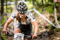 Uci world cup cross country mont ste anne b quebec canada august women elite th place can pichette andréanne on aug Stock Image