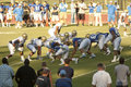 UCLA Football Scrimmage Royalty Free Stock Images