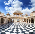 Udaipur City Palace with chess floor Royalty Free Stock Photo