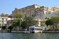 Udaipur and lake pichola rajasthan city palace is a palace complex in in the indian state it was built over a period of nearly Royalty Free Stock Image