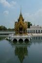 Uderzenie w pałac w ayutthaya tajlandia Zdjęcia Royalty Free