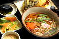 Udon noodle soup Stock Images