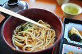 Udon set in japanese restaurant Royalty Free Stock Images
