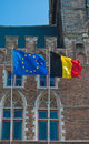 UE and belgian flag Royalty Free Stock Photo