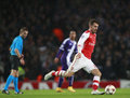 Uefa champions league arsenal v anderlecht london england nov s aaron ramsey during the match between from england and from Stock Photo