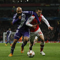 Uefa champions league arsenal v anderlecht london england nov s hector bellerin and s aaron ramsey during the match between Royalty Free Stock Photos