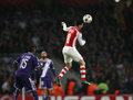 Uefa champions league arsenal v anderlecht london england nov s mikel arteta during the match between from england and from Royalty Free Stock Photo