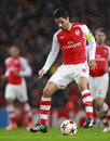 Uefa champions league arsenal v anderlecht london england nov s mikel arteta during the match between from england and from Stock Images