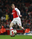 Uefa champions league arsenal v anderlecht london england nov s per mertesacker during the match between from england and Royalty Free Stock Images