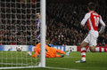 Uefa champions league arsenal v anderlecht london england nov s wojciech szczesny makes a save during the match between from Stock Photo