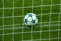 Uefa champions' league ball photo was taken before the group g soccer match between fc dynamo kiev ukraine and fc chelsea Royalty Free Stock Image