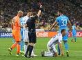 UEFA Champions League game FC Dynamo Kyiv vs Napoli Royalty Free Stock Photo