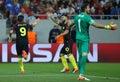 Uefa champions league qualification – steaua bucharest vs manchester city city's manuel agudo duran nolito l celebrates with Stock Photos