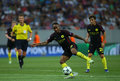 Uefa champions league qualification – steaua bucharest vs manchester city city's raheem sterling in action during the leagues Stock Photos