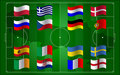 UEFA Euro 2012 and flag football field Stock Images