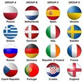 UEFA Euro 2012 Groups Royalty Free Stock Photo
