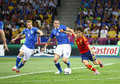UEFA EURO 2012 Final game Spain vs Italy Royalty Free Stock Photo