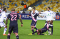 UEFA Europa League game FC Dynamo Kyiv vs Bordeaux Royalty Free Stock Photography