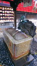 Ueno holy water shrine a shot of a in where you can cleanse your self with Stock Image