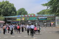 Ueno zoo tokyo japan people visit famous in Royalty Free Stock Photography