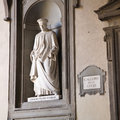 Uffizi gallery florence the museum in with a statue of cosimo de medici italy Stock Image