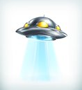 Ufo icon illustration on white background Stock Images
