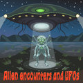 UFO landed alien scout Royalty Free Stock Photo