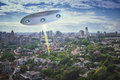 UFO in the sky Royalty Free Stock Photo