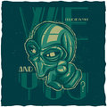 UFO t-shirt label design