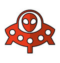 Ufo toy baby isolated icon