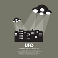 UFO Vector Illustration Royalty Free Stock Photo