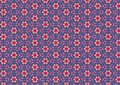 Ugly Blue Retro Floral Pattern