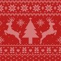 Ugly Christmas Sweater Seamless Pattern Royalty Free Stock Photo
