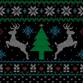 Ugly Christmas sweater style seamless pattern Royalty Free Stock Photo