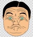 Ugly Gurn Bloke Cartoon Illustration