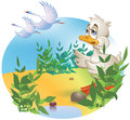 The ugly duckling vector image of Royalty Free Stock Photo