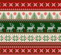 Ugly sweater Merry Christmas Happy New Year seamless pattern frame Royalty Free Stock Photo
